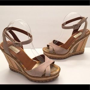 Valentino Native Couture 1975 Espadrille Wedges